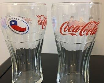Coca-Cola Chile Soccer Glass Set