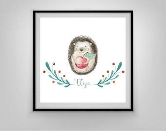 Personalised Babies room print, Digital Art , instant download, instant gift