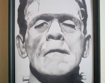 Frankenstein's monster art print