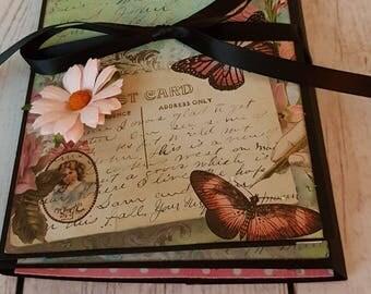 Vintage Butterfly Tri Fold Folio