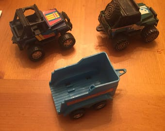 Vintage 1980s Remco Toys Jeeps and Wagon FREE SHIPPING