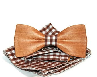 Unique bow tie from beech wood wedding bow tie mens bow tie handmade bow tie custom bow tie wood bow tie. Free shipping.