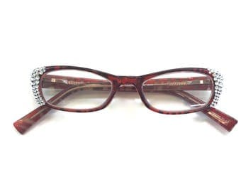 Reading Glasses Made with Authentic Swarovski Crystals +1.50