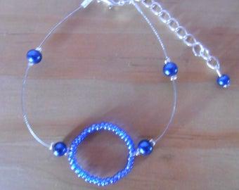 Wedding bracelet circle of life blue