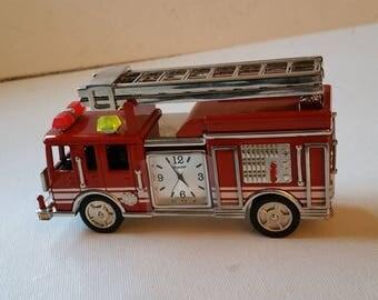 Firetruck desk clock