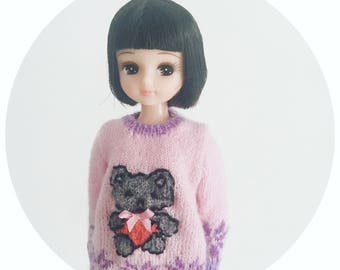 Blythe/Licca handmade sweater/handmade/knitting/vest/outfit/clothe/licca