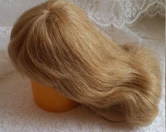 "Beautiful Global Dolls Human Hair Wig 11-12"" Blonde, Dunja"