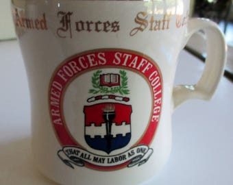 Armed Forces Staff College Mugs,  Military Coffee Mug, W.C. Bunting Mugs, Military Collectibles