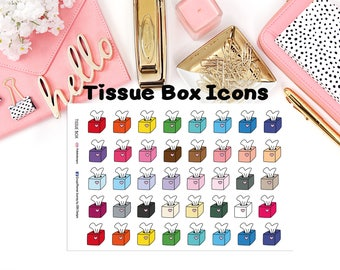 Tissue Boxes Icons//EC//Hp classic, large and mini//planning stickers//
