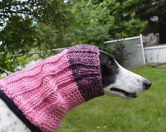 Dog snood, sighthound, whippet, lurcher, greyhound, Italian greyhound (Scarf, Neck warmer, Ear warmer)