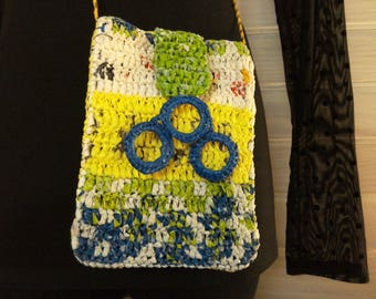 Shoulder bag recycling 'handbag crocheted bags', plastic Upcycled Heather duplex, upcycling