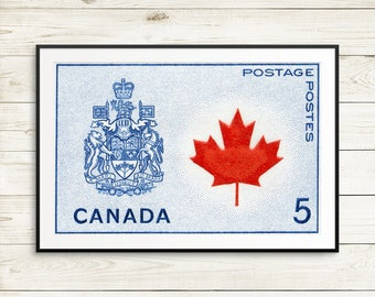 P152 Canada Poster, Canada 150, Canada Coat of Arms, Canada Maple Leaf, Canadian, Canadian Centennial, Canadian Coat of Arms, Canadian Leaf