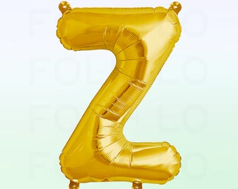 Metallic Gold Letter Z Balloon | Gold Z Balloon | Gold Letter Z Balloon | Jumbo Letter Z Balloon