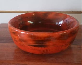 bowl, soup or salad, wooden 7""