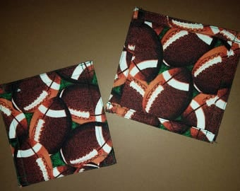 Football quilted coasters