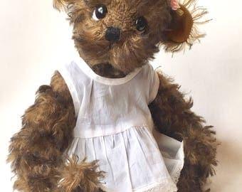 Mohair Artist Bear Antique Style by Chicago Bear Co: Little Lulu