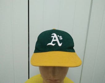 Rare Vintage OAKLAND ATHLETICS Big Logo Embroidered Cap Hat Free size fit all