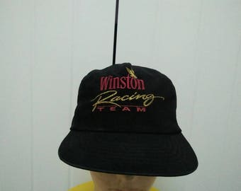 Rare Vintage WINSTON RACING TEAM Embroidered Cap Hat Free size fit all
