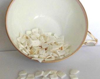 Natural white shell - different sizes - medium beads 1/cm - set of 15g