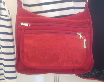 shoulder bag m fabric and Red fantasy