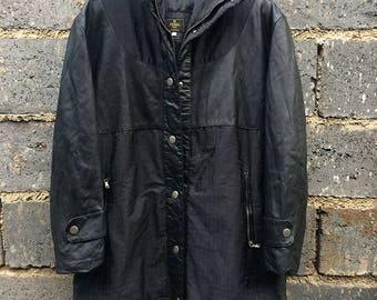 Vintage Fendi Monogram Leather Nylon jacket Size 40