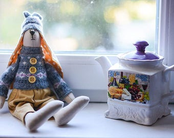Rabbit Bunny Gift Hare Tilda Stuffed Toy Present for Boy Home Decor