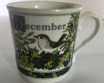 Royal Worcester Months of the Year Cup - December