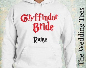 Gryffindor Bride Hoodie . Harry Potter Hoodie. Groom's Funny Hoodie . Wedding Hoodie . Bachelor Party Clothing . Bachelorette Party .