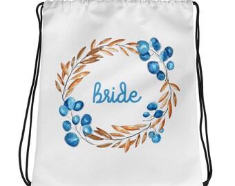 Bride Bridal Party Gift Drawstring bag