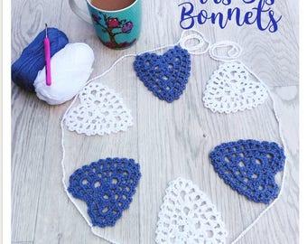 Crocheted Heart Garland/Bunting