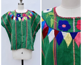 colorful embroidered FRIDA top / mexican ethnic top / small to large