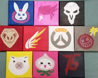 Overwatch inspired painting mini canvas FREE SHIPPING