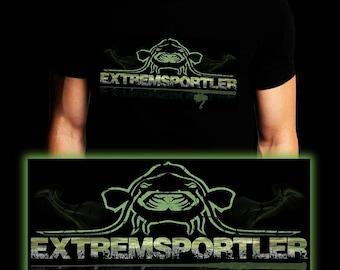 Extreme Athlete Waller | Waller | Carp | Catfish | Fishing T-shirt | S-3XL