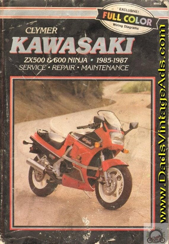 1985-1987 Kawasaki Ninja ZX500 & ZX600 Repair / Service / Clymer Shop Manual #mm80