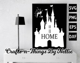 Disney Castle with Tinkerbell SVG