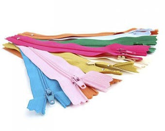 Lot zippers nylon - 7 inch 10 pcs
