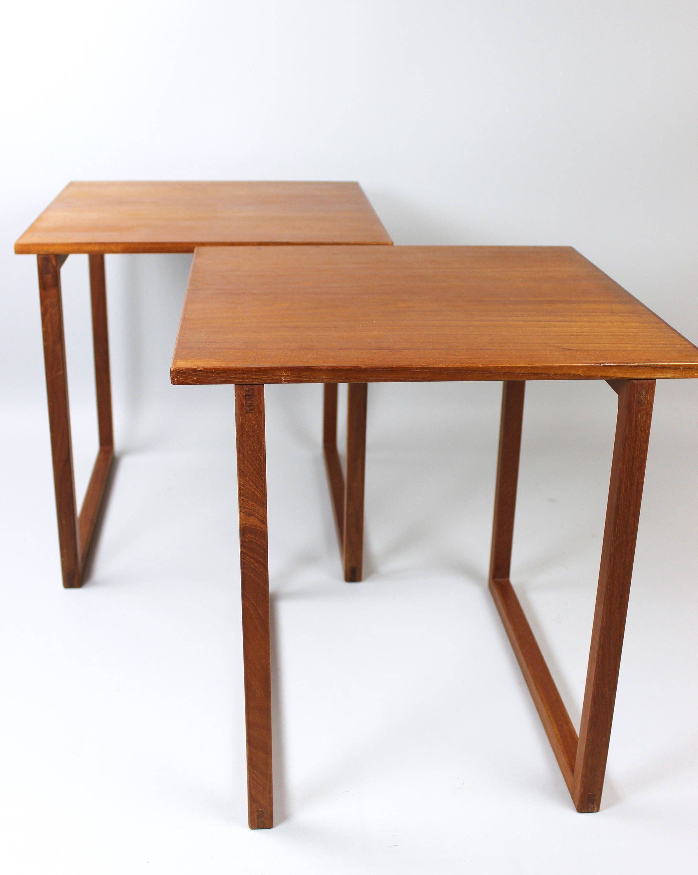 Danish Design Coffee Table Nesting Tables Set Of 2 Cube Teak