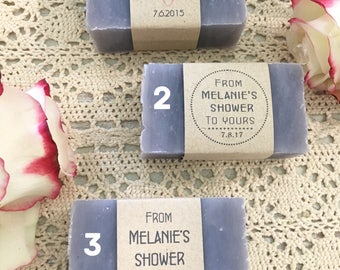 35 Wedding Favors, Medium Soap Bars, Wedding soap favors, Baby shower favors