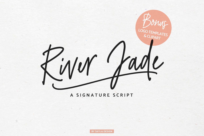 Signature Font Cursive Modern Calligraphy Romantic Handwritten