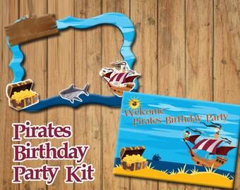 Pirates decoration party kit