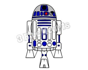 Star Wars R2D2 svg studio dxf pdf jpg png