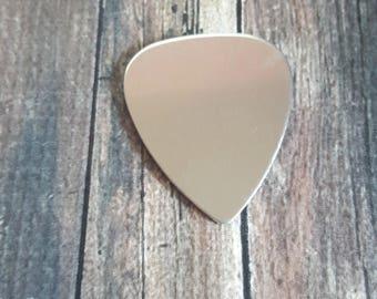 "1.12"" x 1"" Guitar Pick, Aluminum Blanks, Metal Stamping Blanks, 12G Blanks"