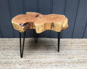 Live Edge Table with Hairpin Legs