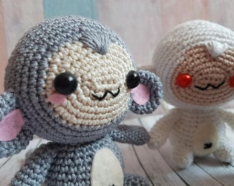 Cute Monkey Amigurumi / Amigurumi Affe choose your favorite color! Made to order