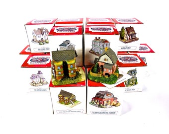 VINTAGE: 18 Miniature Houses - The American Collection Buildings - International Resourcing Services, Inc - SKU 00008814