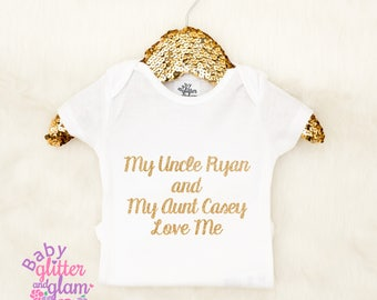 My Aunt Loves Me, My Uncle Loves Me, I love My Aunt, I Love My Uncle, Baby Girl Aunt and Uncle Shirt, Auntie Shirt, Uncle Shirt