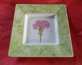 "tidy / pink ""Carnation"" porcelain candle holder"