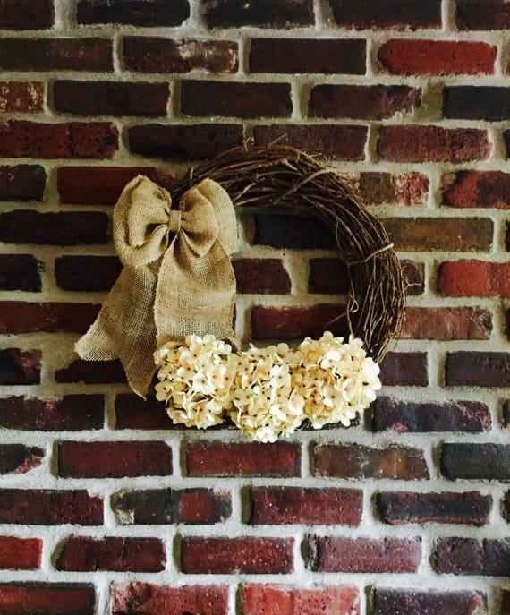Summer Door Wreath-Summer Wreath-Front Door Wreath-Spring Wreath-Spring Door Wreath-Everyday Wreath-Rustic Wreath-Hydrangea Wreath