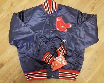 Size Medium Boston Red Sox starter jacket,NEW with original tags, 80s 90s, satin jacket,vintage jacket, Fenway park