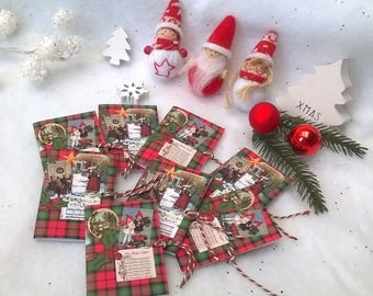 8 booklets quote Christmas gift traditional theme plate